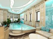 Дизайн дома Алматы,  Интерьер spa-зоны