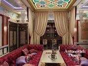 Дизайн интерьера Алматы. Кальянная комната